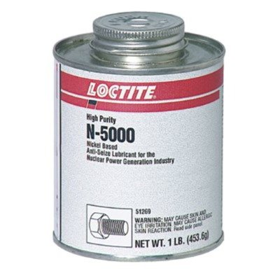 Loctite 51243 Silver LB N-5000 High-Purity Anti-Seize Lubricant, -20 Degree F Lower Temperature Rating to 2400 Degree F Upper Temperature Rating, 8 fl. oz. Brush Top Can 442-51243