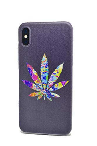 Weed/Marijuana - TPU Flexible Plastic Protective Case/Cover/Skin/Bumper for iPhone (iPhone 7+/8 Plus)