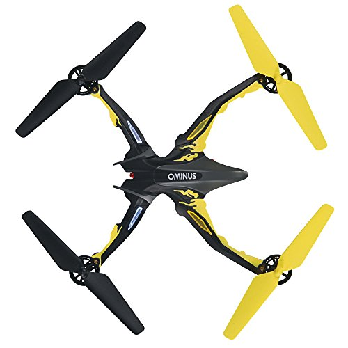 Dromida Ominus Unmanned Aerial Vehicle (UAV) Quadcopter Ready-to-Fly (RTF) Drone with Radio System, Batteries and USB Charger (Yellow)