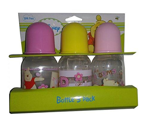 Pooh Plastic Baby Bottles Set - 1 Set Includes 3 Bottles - Each 5oz (Any)