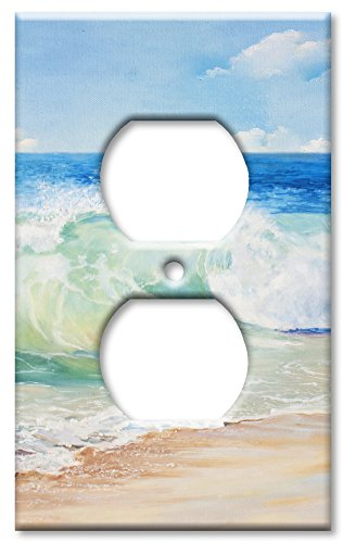 Art Plates Brand Electrical Outlet Wall/Switch Plate - Beach Painting (Nautical Switch Plate)