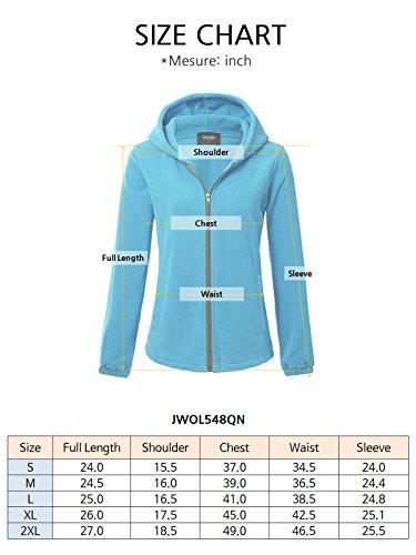 JayJay Women Ultra Soft Fleece Long Sleeve Hoodie Jacket,Beige,M by JayJay Active (Image #7)