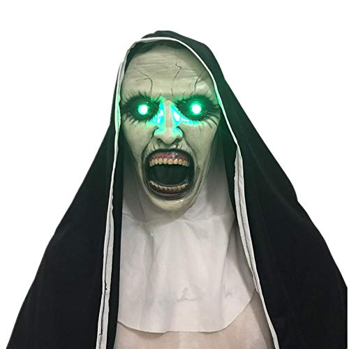 Scary Nun Mask Halloween Adult Thriller Party Props Mask, 01]()