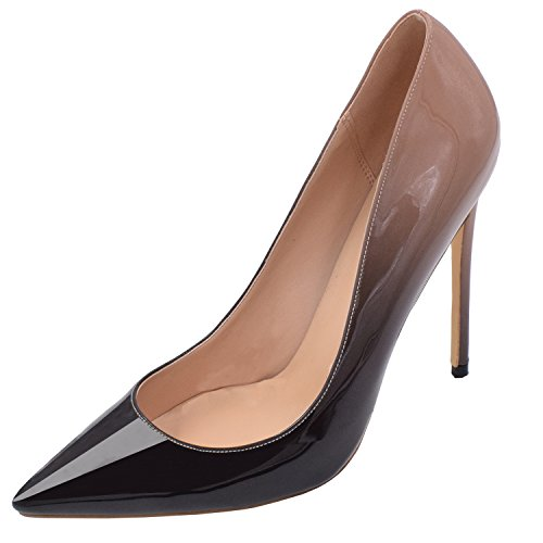 on Wedding Womens Toe Party Nude Heel Lovirs High Shoes Stiletto Pointed Slip Basic black Pumps qgdFY