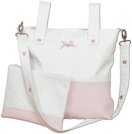 color rosa Panera con neceser unisex Babyline Letto