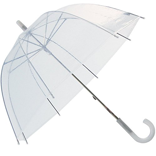 (6 Pack) 46'' Clear Bubble Umbrella Manual Open Fashion Dome Shaped European Hook Handle by Sara Rain (Image #3)