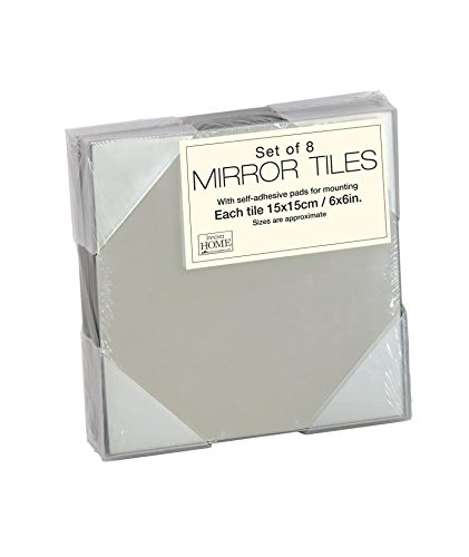 Innova 15 X 15 Cm Square Mirror Tiles With Self Adhesive Pads Pack