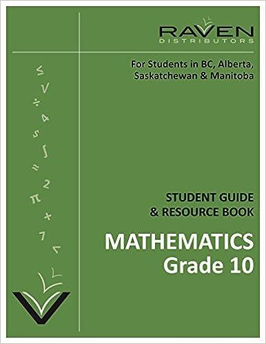 Raven's Guide to Alberta Mathematics 10C (Grade 10): Alan R ...