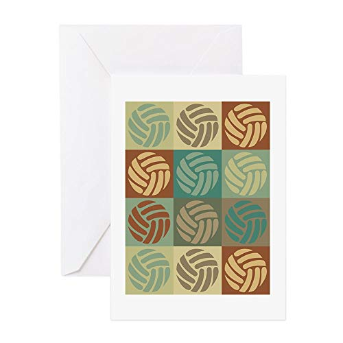 - CafePress Volleyball Pop Art Greeting Card, Note Card, Birthday Card, Blank Inside Glossy