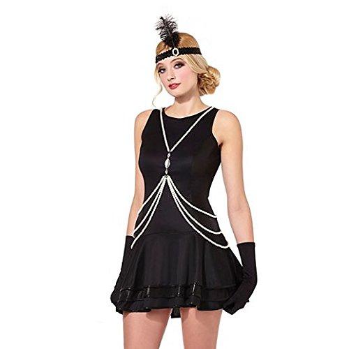 Vintage Charm Halloween 20S Pearl Bodychain