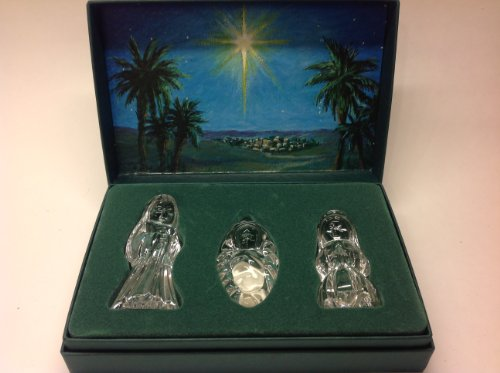 Vintage 1997 Waterford Marquis Miniature Nativity Set - Holy Family - Crysal Figurines - With - Figurines Nativity Waterford