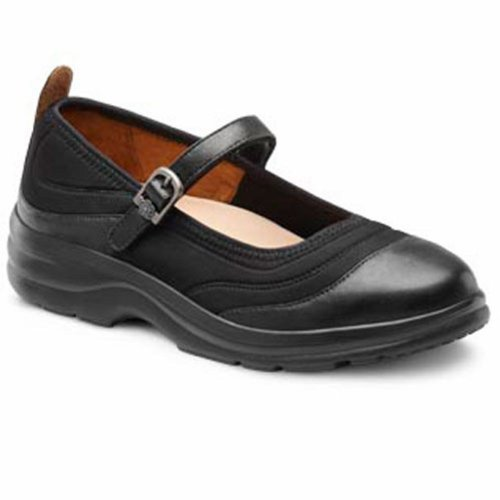 Dr. Comfort Flute Women's Therapeutic Diabetic Extra Depth Shoe: Black/Lycra 9.5 X-Wide (E-2E) Velcro