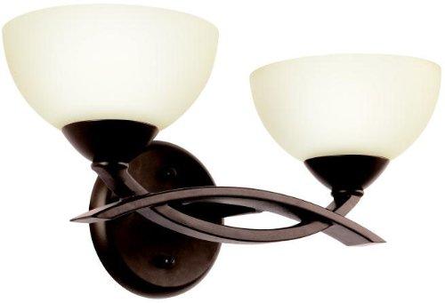 Kichler 45162OZ Bath Vanity Wall Lighting Fixtures, Bronze 2 Light (15