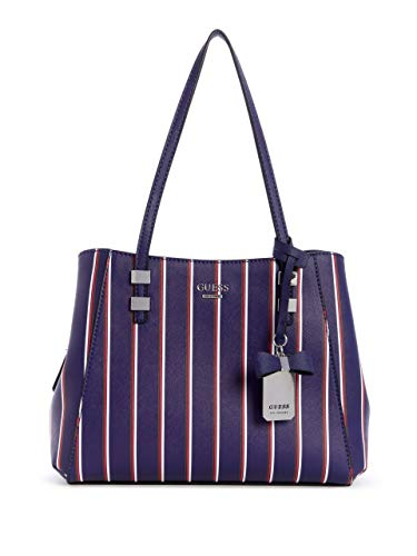 (GUESS Factory Women's Karleen Striped Satchel)