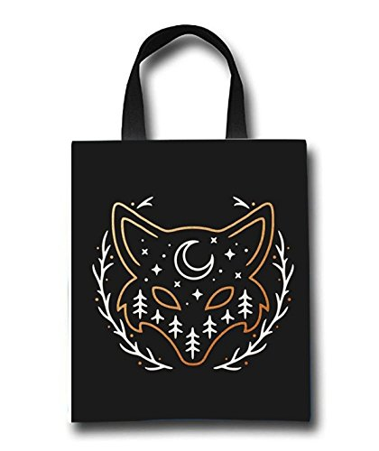 Fox Beach Tote Bag - Toy Tote Bag - Large Lightweight Market, Grocery & Picnic by Linhong