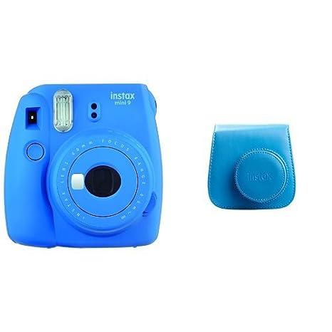 Fujifilm - Instax Mini 9 - Pack d'Appareil photo instantané avec 1 Film Monopack - Bleu (Bleu Cobalt) & Fujifilm - Twin Films pour Instax Mini - 86 x 54 mm - Pack 2 x 10 Films Fujifilm Digital