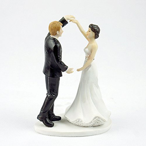 Homanda Dancing the Night Away Wedding Couple Resin Wedding Decoration Cake Topper for Wedding Engagement Bridal Shower Wedding Anniversary
