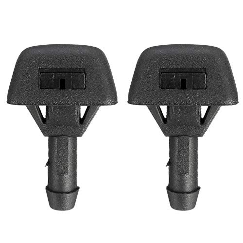 (Cheriezing 2Pcs Front Windshield Washer Nozzles Wiper Spray Kit for Volvo Replaces # 30655605)