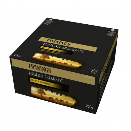 Twinnings Twinings English Breakfast String & Tagged Teabags 5 Boxes Of 100 by Twinings