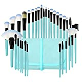 Best Makeup Brush Sets - Makeup Brushes Set, 32pcs Blue Premium Cosmetic Make Review