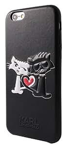 Karl Lagerfeld Choupette In Love carcasa rígida para iPhone 6/6S - negro