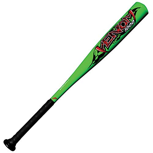 Franklin Sports Venom Aluminum Official Youth Tee Ball Bat - USA Regulation Approved - Perfect for Soft Core T-Balls - 25 Inch/15 Ounce (-10) Green