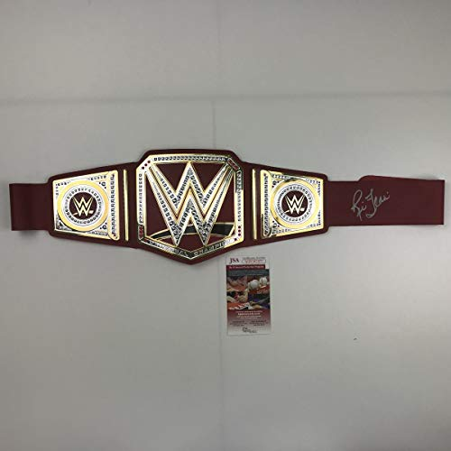 Autographed/Signed Ric Flair Red Toy Replica WWE Wrestling Championship Title Belt JSA COA