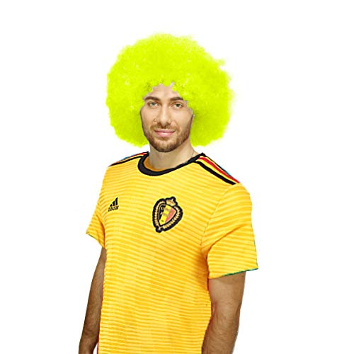 The Partyholic Afro Wigs for Fluorescent Yellow