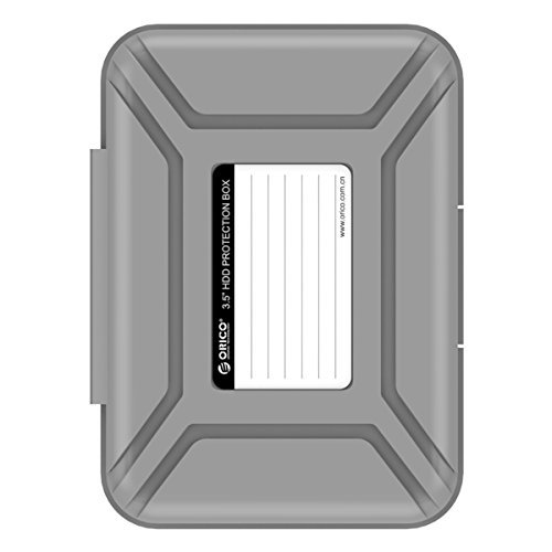 ORICO Hard Drive Case 3.5, Protective Storage Case for 3.5 HDD Portable, Anti-Static, and Anti-Shock - Gray