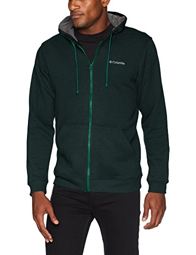 Columbia Men's Hart Mountain Full Zip, Dark Ivy Heather, - Columbia Cotton Sweater