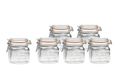 Amici Gourmet Jars, 17 oz - Set of 6