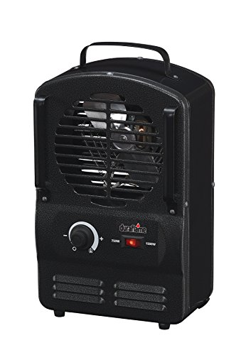 Duraflame DFH-UH-3-T Portable Electric Compact Durable Radiant Utility Heater, Black Black Compact Duraflame Duraflame Electric Garage, Shop And Utility Heaters Heater Portable Radiant Utility