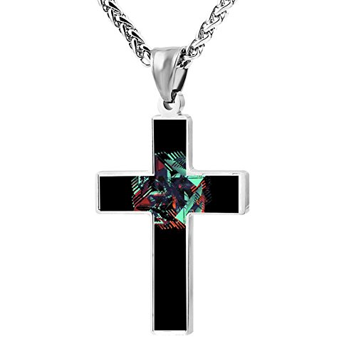 heel Cross Necklace Zinc alloy Pendant Creative Personalized Accessories Prayer Christian 24 Inch (Style Stainless Steel Pinwheel)