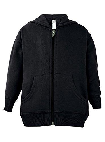Wholesale Zip Up Hoodies (Rabbit Skins Toddler Zip Fleece Blank Hoodie [Size 4T] Black Long Sleeve Sweatshirt)
