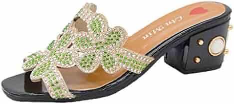 63bb0cdce495 Shopping 🔥YEZIJIN🔥 - Under $25 - Green - Slippers - Shoes - Women ...