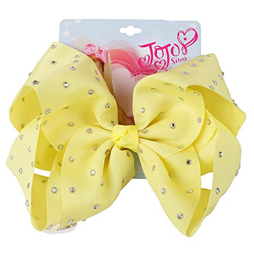 Jumbo Full Rhinestones Bow Solid Grosgrain Ribbon Alligator Clips Headwear Bowknot For Girls Hair Accessories pistachio