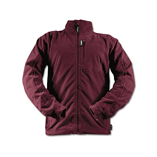 Rivers West Men's Waterproof Breathable Fleece Jacket (seam-sealed) (Burgundy, Large)