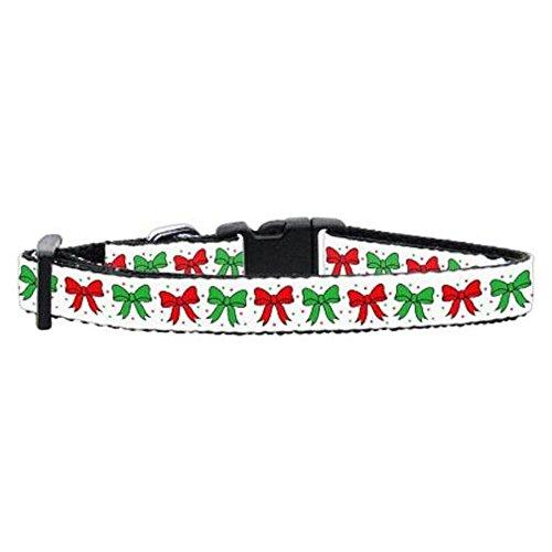 Collar Pet Christmas Ribbon Dog (Mirage Pet Products Christmas Bows Nylon Ribbon Collar, Small)