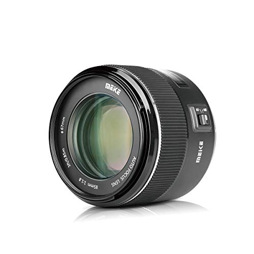 Meike 85mm F/1.8 Full Frame Auto Focus Prime Lens for Canon EOS EF Mount Digital SLR Cameras