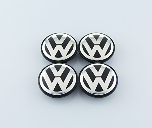 ZZHF1 VW Wheel Center Caps 65mm for Volkswagen Beetle CC EOS GTI Golf Jetta Passat Phaeton Tiguan 3B7601171 (4Pcs)