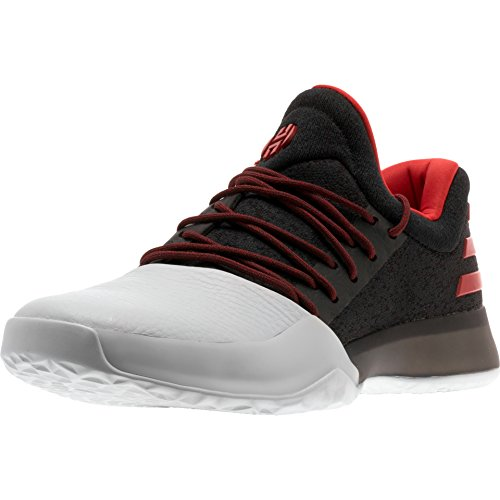 Harden Vol. 1 Mens in Black/Scarlet by Adidas, 8 (James Harden Shoes)
