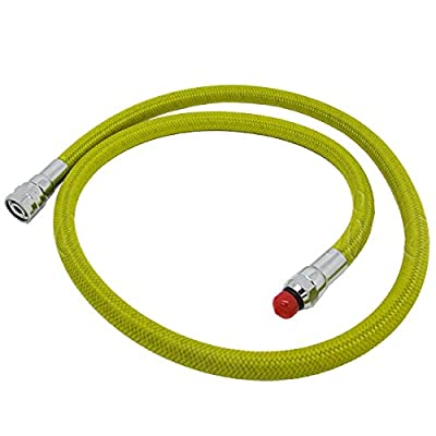 "Scuba Choice Scuba Diving 36"" Nylon Braided Yellow Low Pressure Regulator Hose 2nd Stage"
