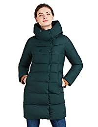 ICEbear Women's Coats Winter Quilted Jackets Long Hooded for Ladies 16G6128