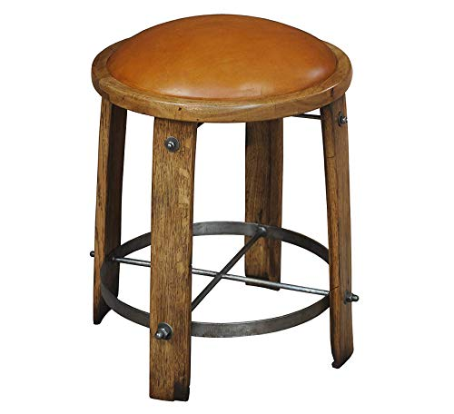 Wood & Style Furniture Wine Barrel Staves Stool Home Bar Pub Café Office Commercial ()