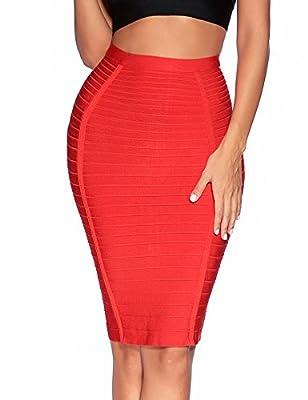 Meilun Women's Waist Sheath Straight Bandage Skirt Pencil Dress