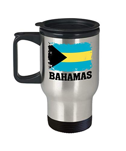 Bahamas Flag Travel Coffee Mug Funny Gifts - Bahamian Pride Flag Hometown Country Pride, Travel, Souvenir, Vintage Bahamas Flag Cup Tumbler