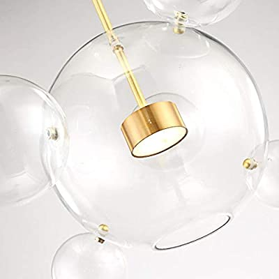 Clear Glass Ball Living Room Chandeliers Art Deco Bubble