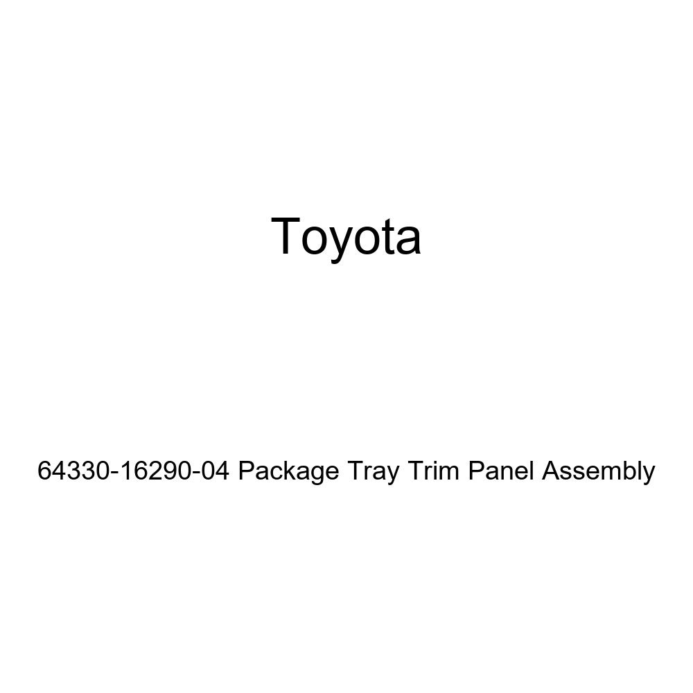 TOYOTA Genuine 64330-16290-04 Package Tray Trim Panel Assembly