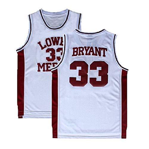 6e69bb2d2 Fahgste Men s Kobe Jersey 33 Legend Jerseys Retro Basketball Bryant Jersey  White(S-XXL) (XL)