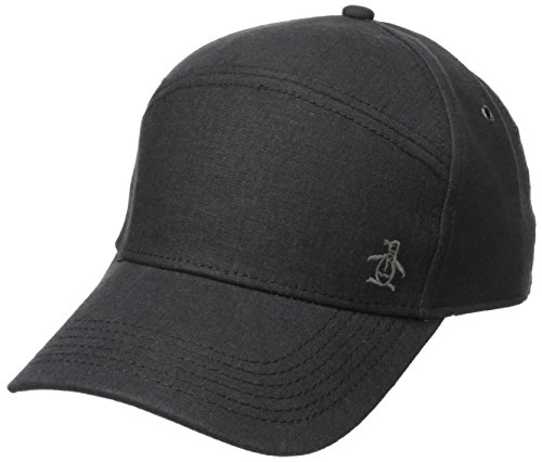 Original Penguin Men's Linen Baseball Cap, Grey, One - Cap Linen Penguin Original